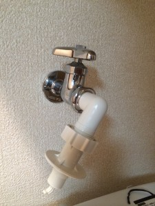 洗濯機の蛇口を交換する